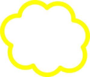 Clouds clipart yellow Art vector  at Yellow