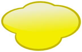 Clouds clipart yellow Art Speech Clip Yellow Speech