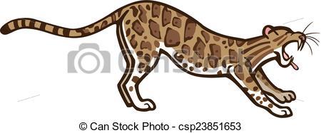 Clouded Leopard  clipart Csp23851653 a Leopard Leopard vector