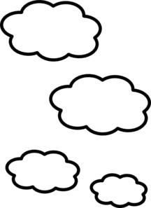 Clouds clipart White And Images Panda Black