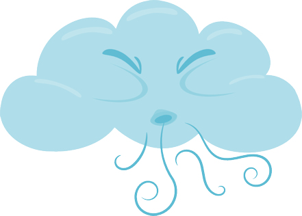 Clouds clipart clear background Free Blowing art transparent clipart