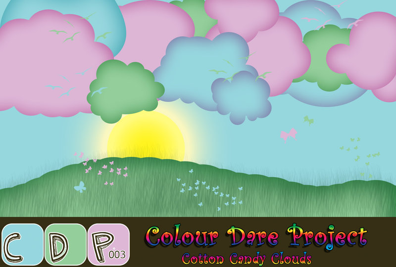Clouds clipart cotton On Cotton Candy by Lissaburd