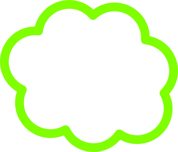 Clouds clipart green Image as: Art  Clip