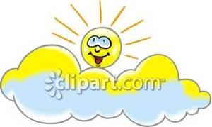Clouds clipart happy sun Picture Above Clouds Clipart Sun