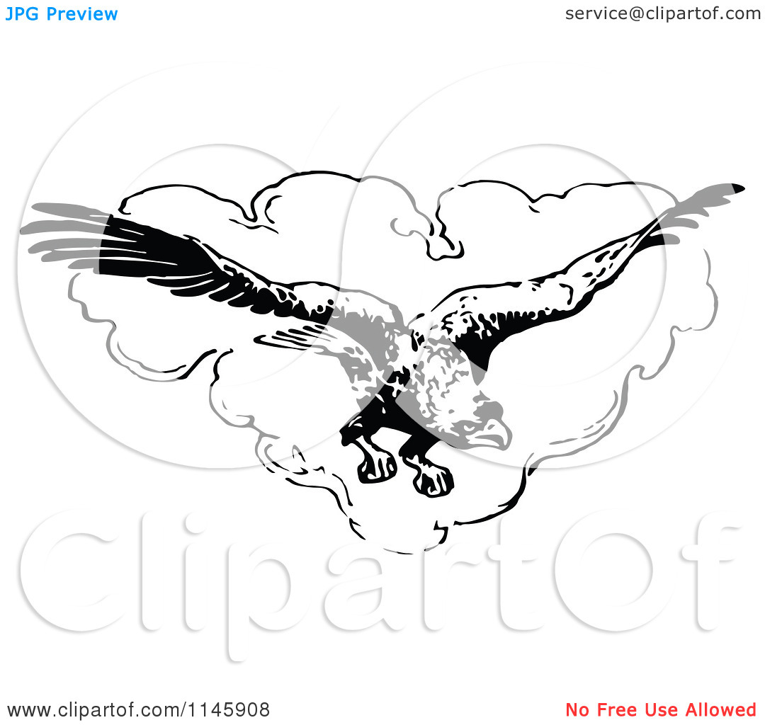 Clouds clipart retro The Clouds Eagle Clipart In