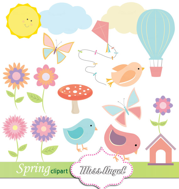 Clouds clipart spring Birds  from CLIP ART