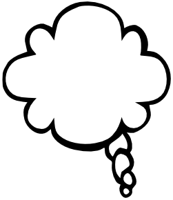 Clouds clipart text  left /blanks/callouts/bold_callout /blanks/callouts/bold_callout/text_bubble_cloud_joined_left bubble