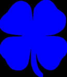 Clover clipart blue Blue Art com Clip vector