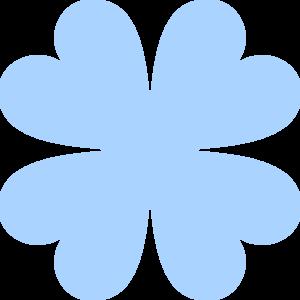 Clover clipart blue Blue Four Clip Leaf Art