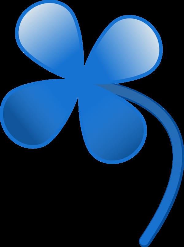 Clover clipart blue Four Leaf Free clover Download