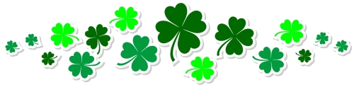 Clover clipart divider Border Word Documents  For