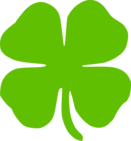 Clover clipart four leave Four four leaf clover Cliparting