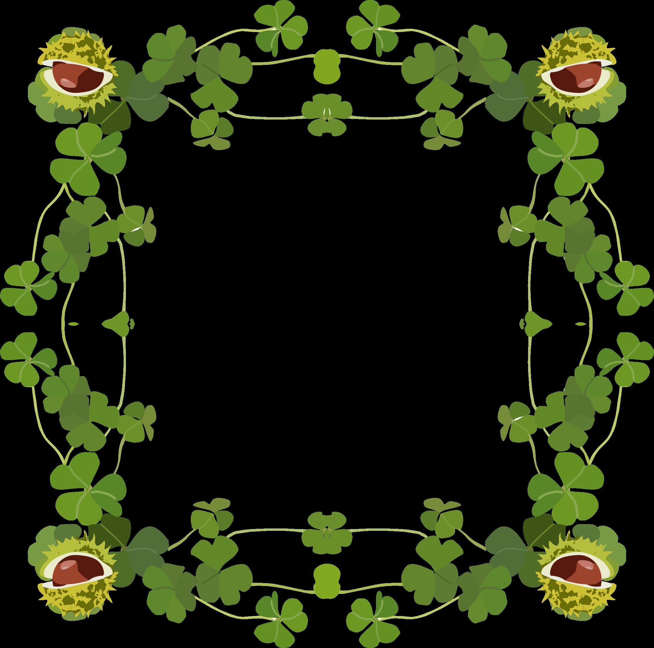 Clover clipart four leaf clover Frame Clover Clover Frame Clipart