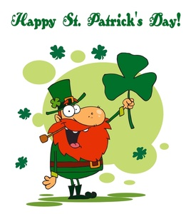 Clover clipart leprechaun Image: Leprechaun Clover With A