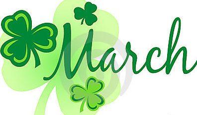 Clover clipart march newsletter Danvers District March Schools District