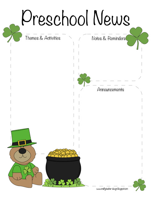 Clover clipart march newsletter Patrick's March The The March