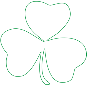 Clover clipart outline Outline Outline collection Shamrock Shamrock