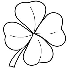 Clover clipart outline Clovers for finished Cake Day