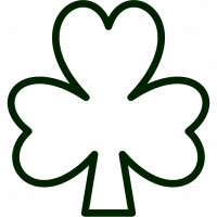 Clover clipart outline Images Outline Shamrock Art on