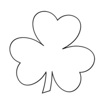 Clover clipart outline Shamrock Shamrock jpg Large Filename: