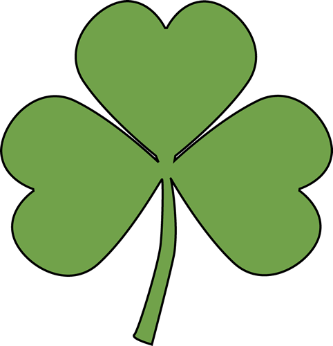 Clover clipart outline Outline Shamrock art download Shamrock