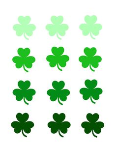 Clover clipart green leaf Clovers CLIP ART printable PATRICK'S