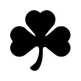 Clover clipart silhouette New Silhouette and Shark Shamrock