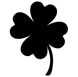 Clover clipart silhouette Clover Leaf  Silhouettes Leaf