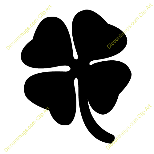 Clover clipart silhouette Leaf Four Png Silhouette