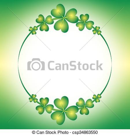 Clover clipart spring Border clover Vector green Spring