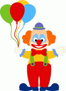 Clown clipart 2 clip on art Clown