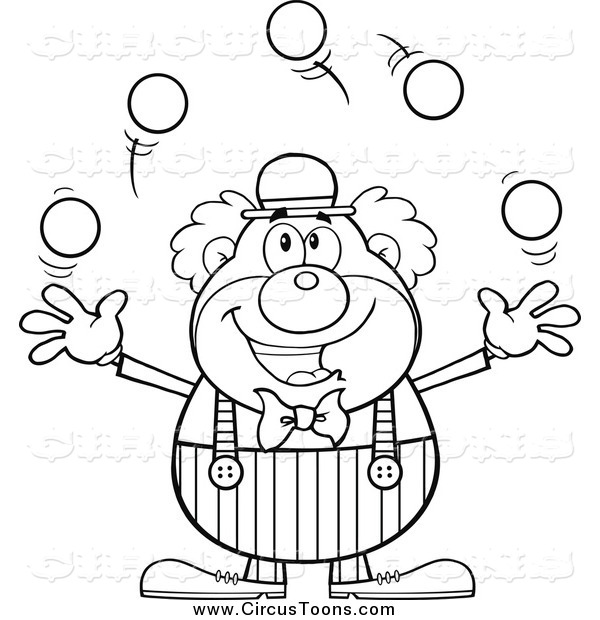 Circus clipart circus juggler Happy and Juggling Clipart of