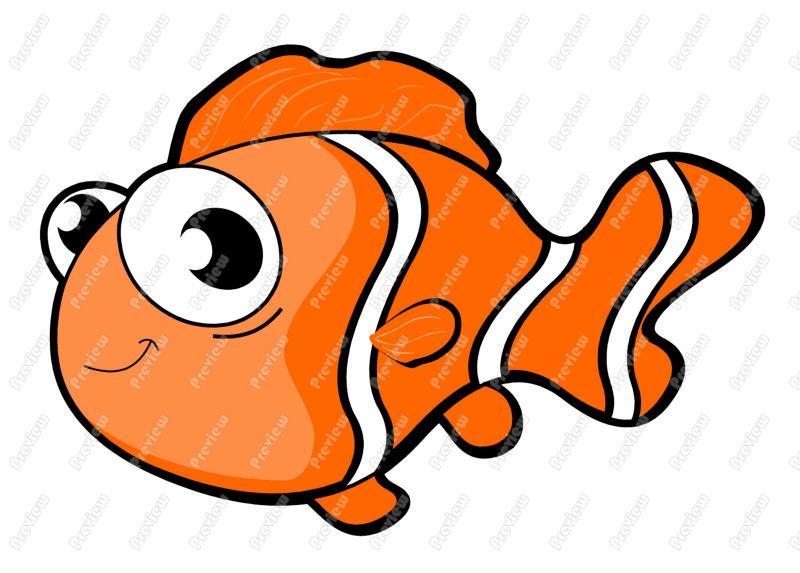 Clownfish clipart Free Fish  Clown Clipart