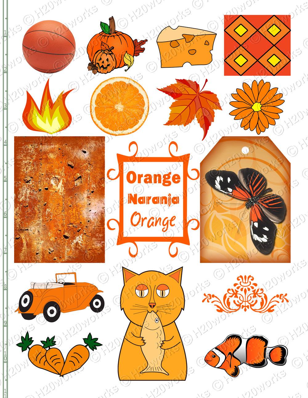 Orange Flower clipart orange things Objects Butterfly  Stuff Things