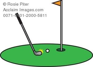 Golf Course clipart putt putt golf Putting of a a Illustration