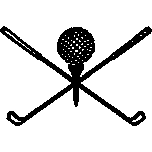 Club clipart black and white Club ball black white tee