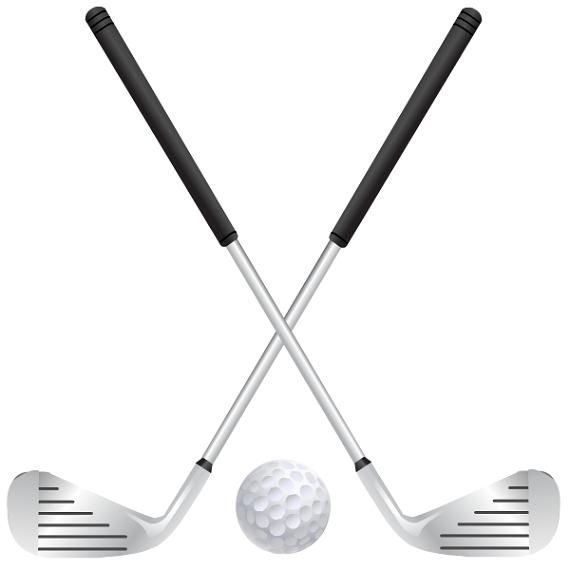 Golf Course clipart golf stick Art clipartfest Crossed clip Golf