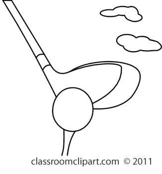 Club clipart black and white Golf And Black Club Art