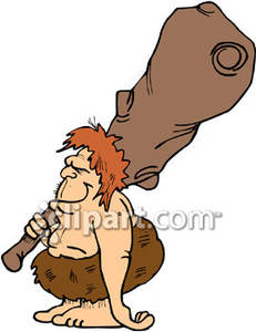 Club clipart caveman club Large Caveman with Royalty Large