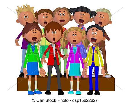 Club clipart children's choir And Children Stock Chorus EPS