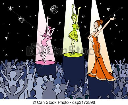 Club clipart dance club Dancing woman Cartoon  of