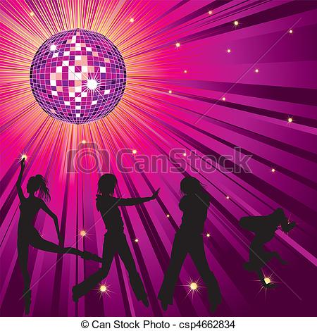 Club clipart dance club Night night People Vector Vector