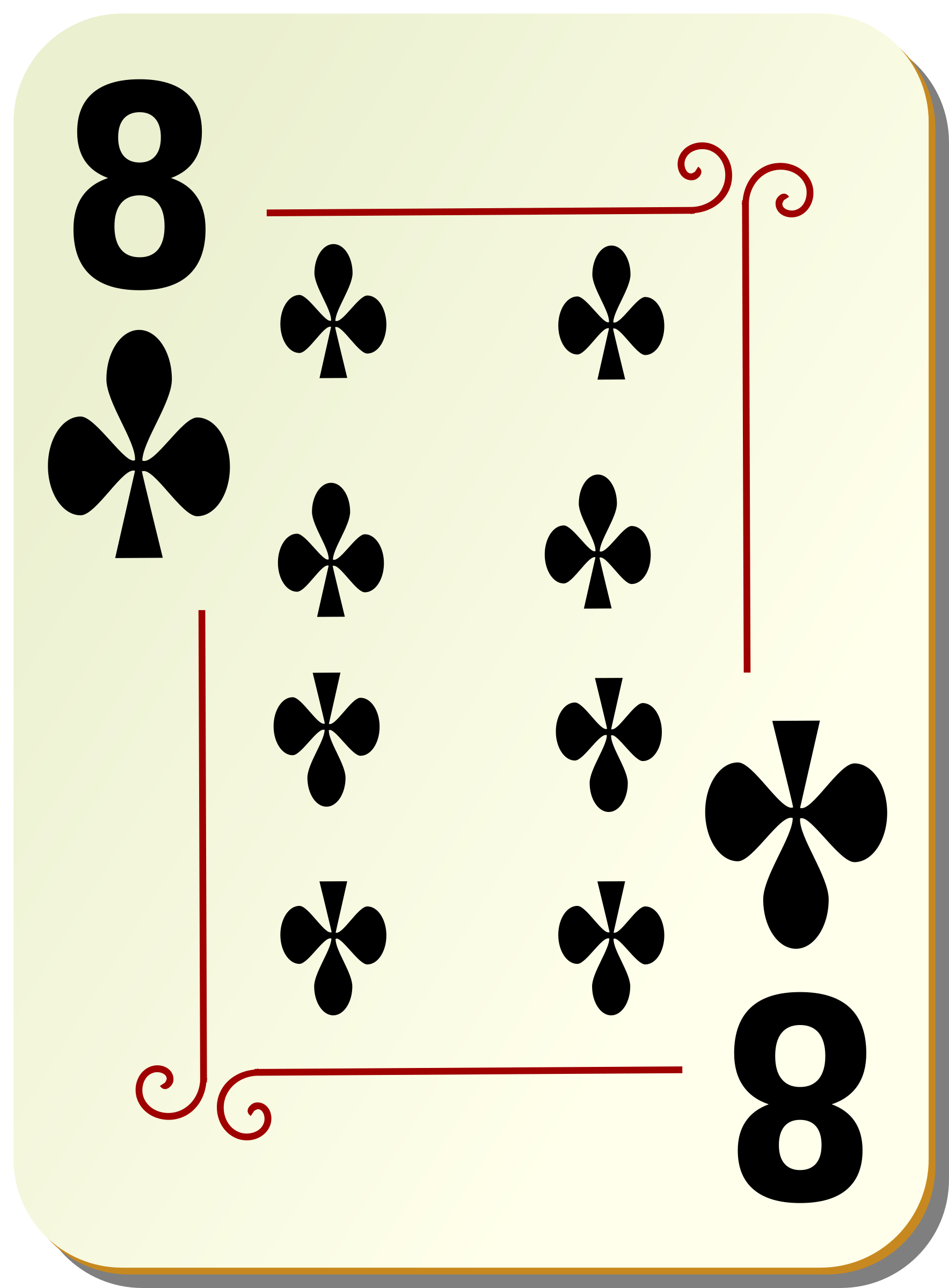 Club clipart deck card 8 clubs clubs Ornamental Ornamental