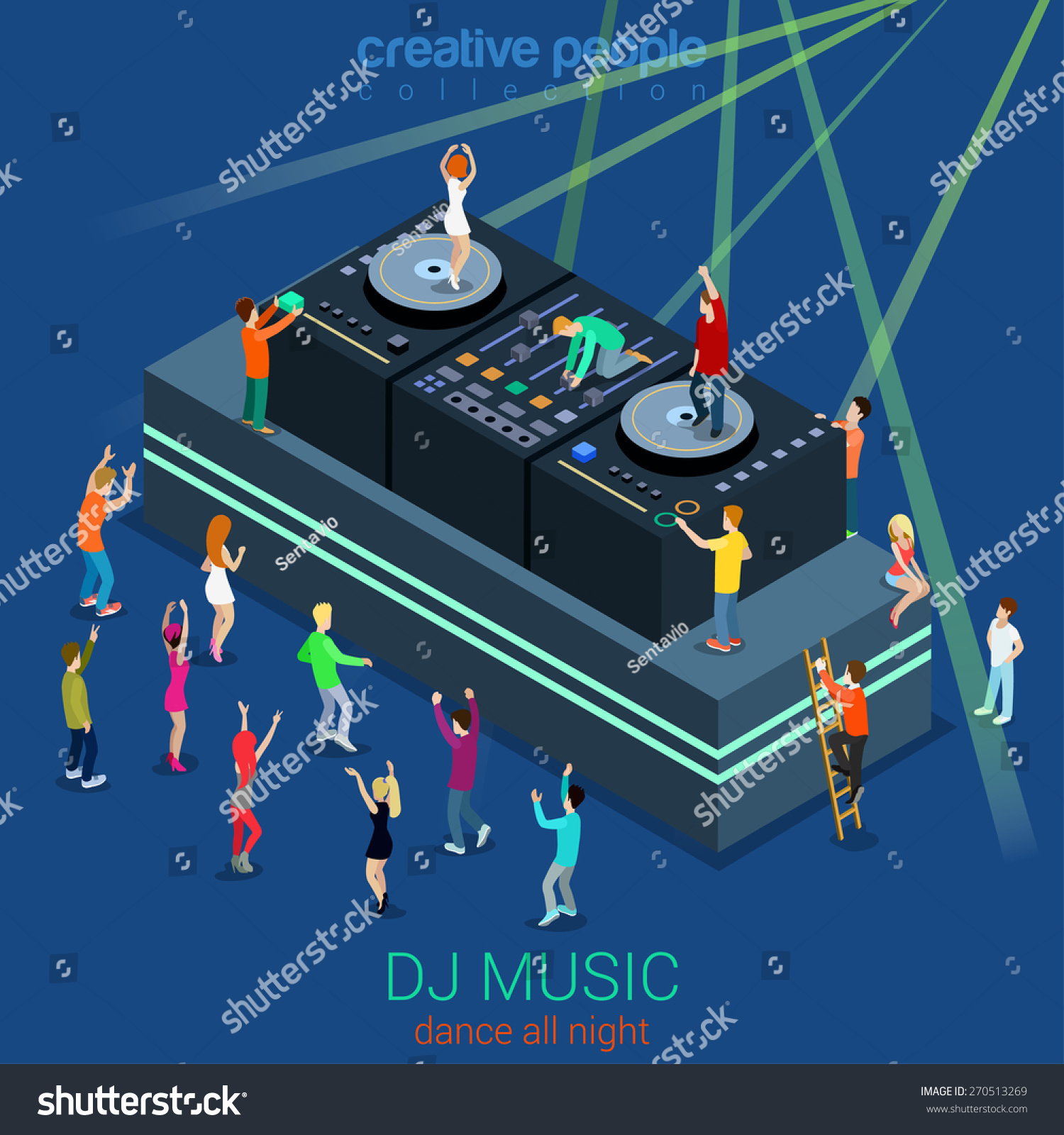 Club clipart dj dance Loudspeaker Dance Dj Night collection
