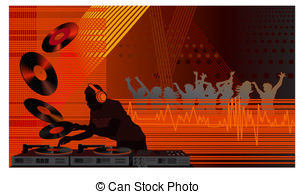 Club clipart dj dance Illustration Stock  in Illustrations