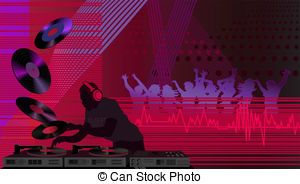 Club clipart dj dance Illustration Vector vector in and