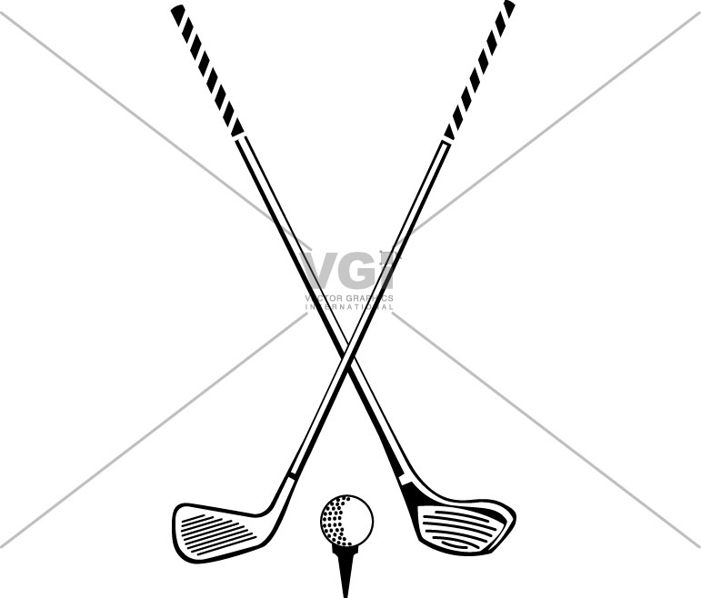 Club clipart golf stick Crossed Golf With Golf Clubs