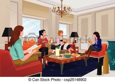 Club clipart meeting person Clipart Women vector club a