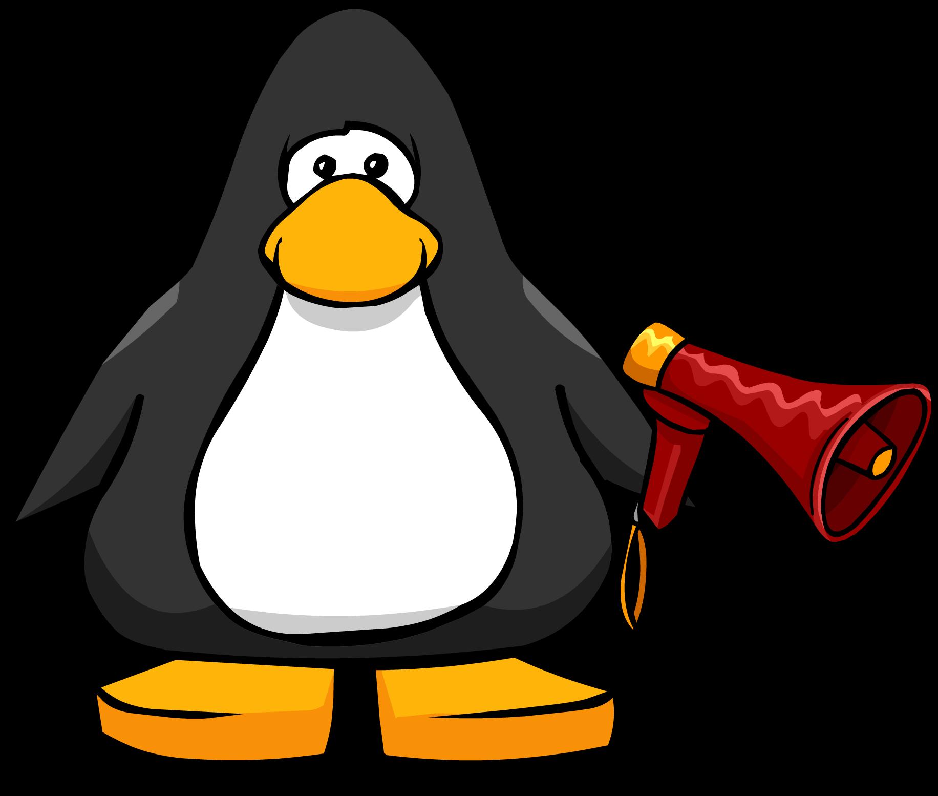 Club clipart megaphone By Megaphone Penguin Wiki FANDOM