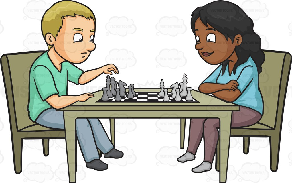 Club clipart play chess Person Playing Clipart chess Woman